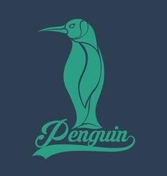 penguin logo vector image vector image