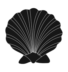 Prehistoric seashell icon in black style isolated vector image vector image