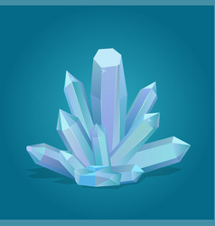 quartz geometric crystal vector image