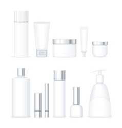Set of Organic Series Cosmetic vector image vector image