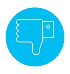 Thumb down hand sign line icon vector image vector image