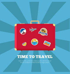 Time to travel journey poster vector