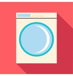 Washing machine icon flat style vector image