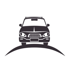 car vehicle silhouette vector image