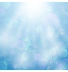 Bokeh blurred light background vector