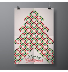 Merry Christmas Holiday with typographic design vector image