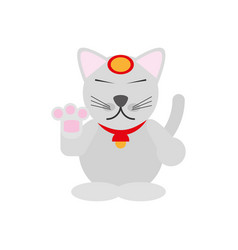 maneki neko - cat japanese vector image