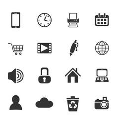 blog icon set vector image
