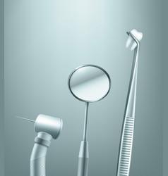 Set of dental tools vector