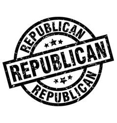 Republican round grunge black stamp vector