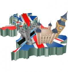 United kingdom tourism vector