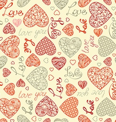 Valentines seamless pattern vector