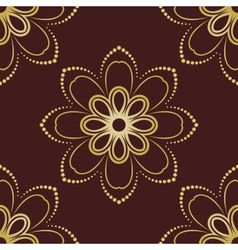 Floral seamless pattern orient abstract floral vector