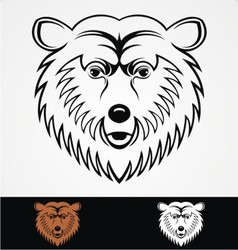 Bear head mascot vector