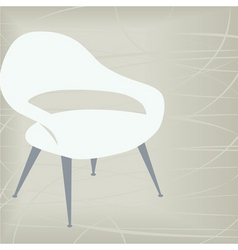 Vintage chair icon vector