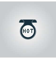Bookmark with hot message vector