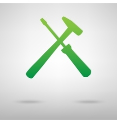 Tool green icon vector