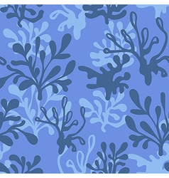 Underwater seamless blue pattern vector