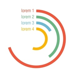 Circle infographic elements vector