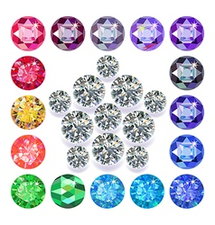 Diamond pentagon brooch vector