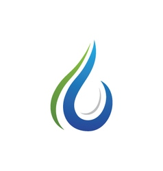 Water logo template vector
