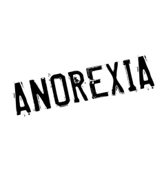 Anorexia rubber stamp vector