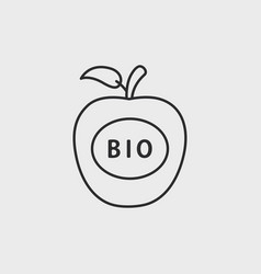 apple bio icon vector image