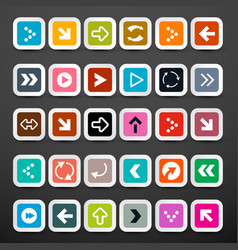 arrows arrow icons set vector image vector image