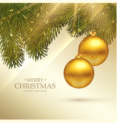 Beautiful merry christmas festival greeting card vector