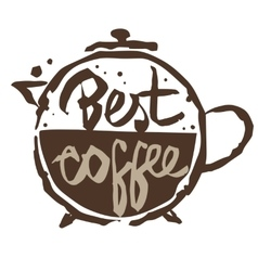 best coffee emblem vector image