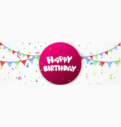 Birthday banner vector