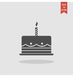 Birthday cake web icon vector