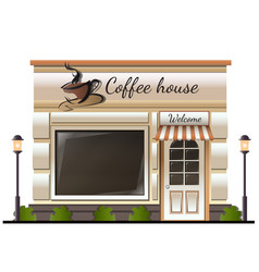 Coffee house store colored icon vector