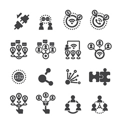 Connection icon set vector