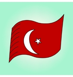 Flag of Turkey pop art vector image vector image