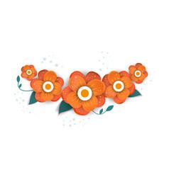 Floral bouquet design vector