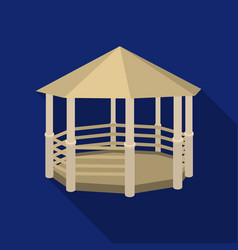 Gazebo icon in flat style isolated on white vector