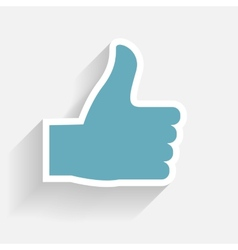 Hand signal on white EPS 10 vector image