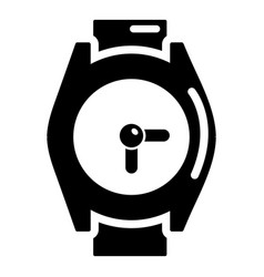 hand watch icon simple style vector image
