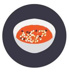 Isolated bowl of ramen vector