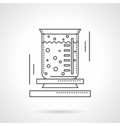 Lab beaker flat line design icon vector