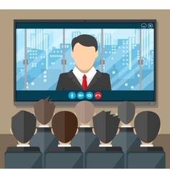 Online conference Internet meeting video call vector image vector image