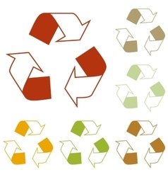 Recycle logo concept vector image vector image