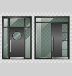 set of modern entrance doors vector image vector image