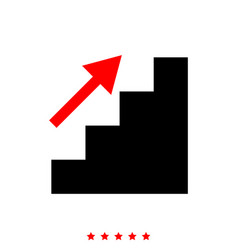 stairs growth it is icon vector image