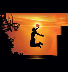 Street basketball vector