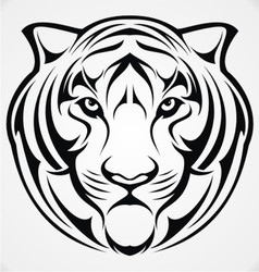 Tiger head tribal vector