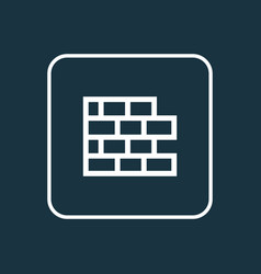 wall outline symbol premium quality isolated vector image