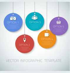 Web Infographic Round Badges Template Layout With vector image vector image