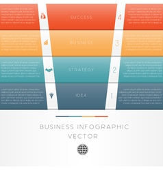 Template infographic colour strips 4 position vector